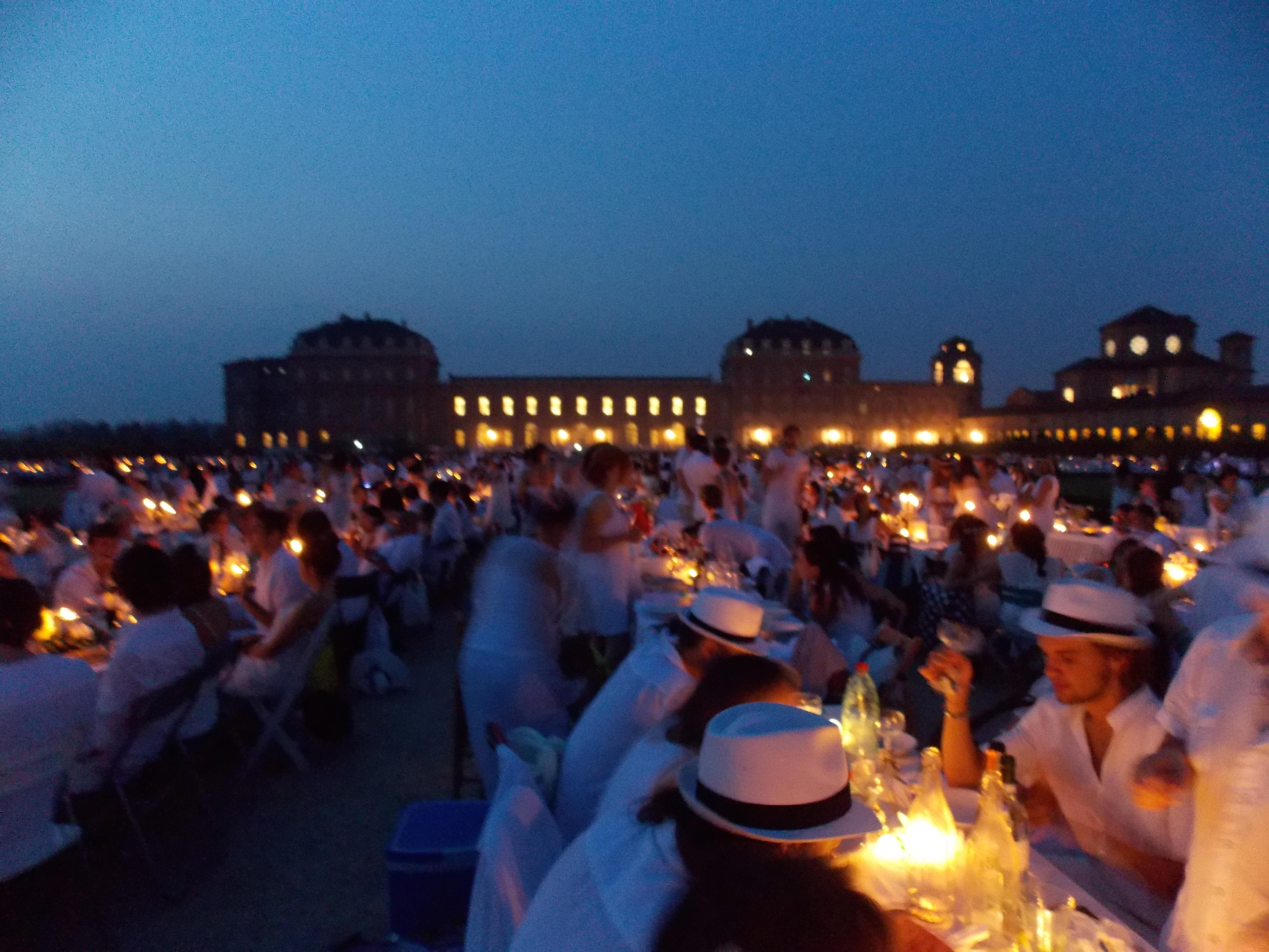 La mia Cena in Bianco a Torino anno 2015