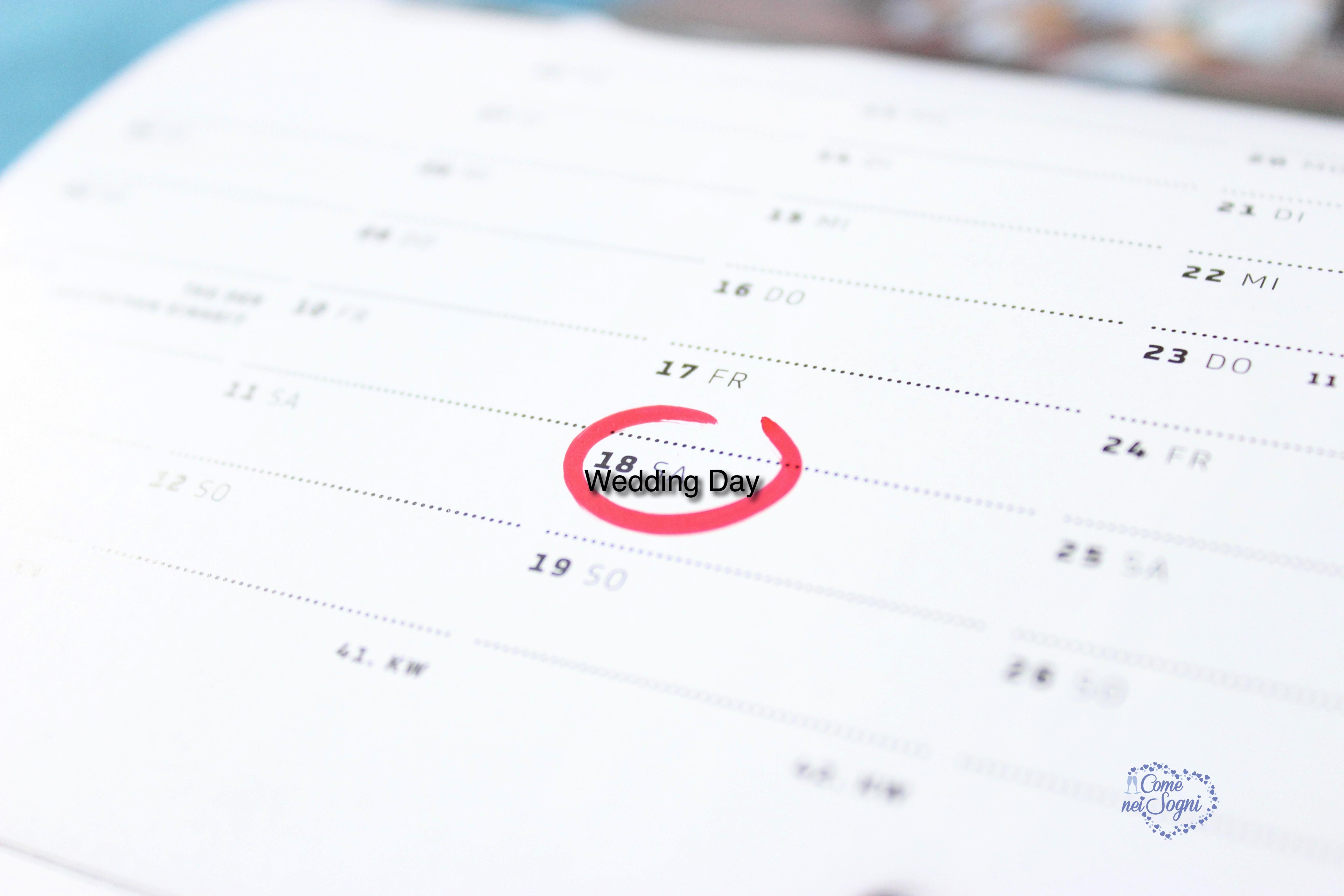 Scegliere la data del matrimonio