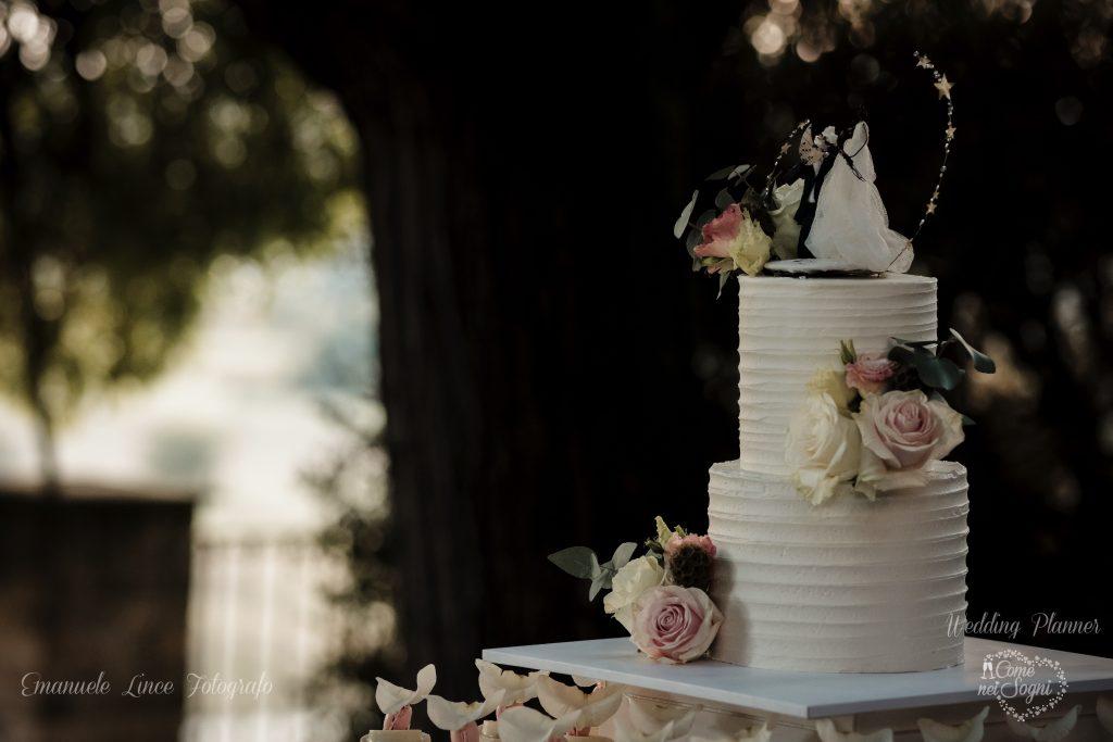 La torta nuziale di Elisa e Luca