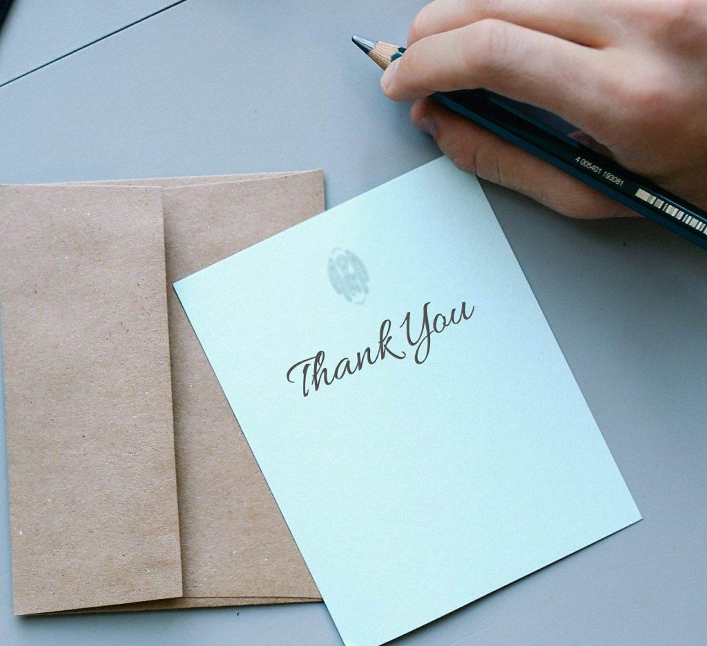 Scrivi insieme al tuo consorte, il discorso di ringraziamento.